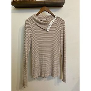 Dolan striped button-neck long sleeve | Sz XL